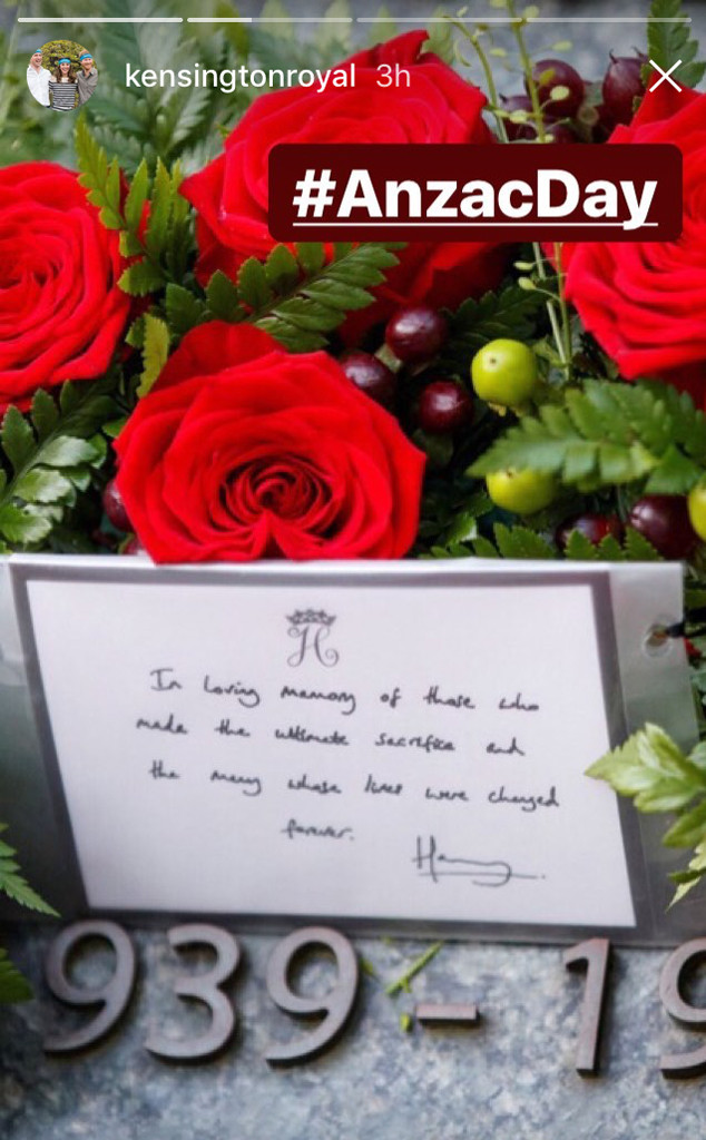 Prince Harry, Memorial Wreath
